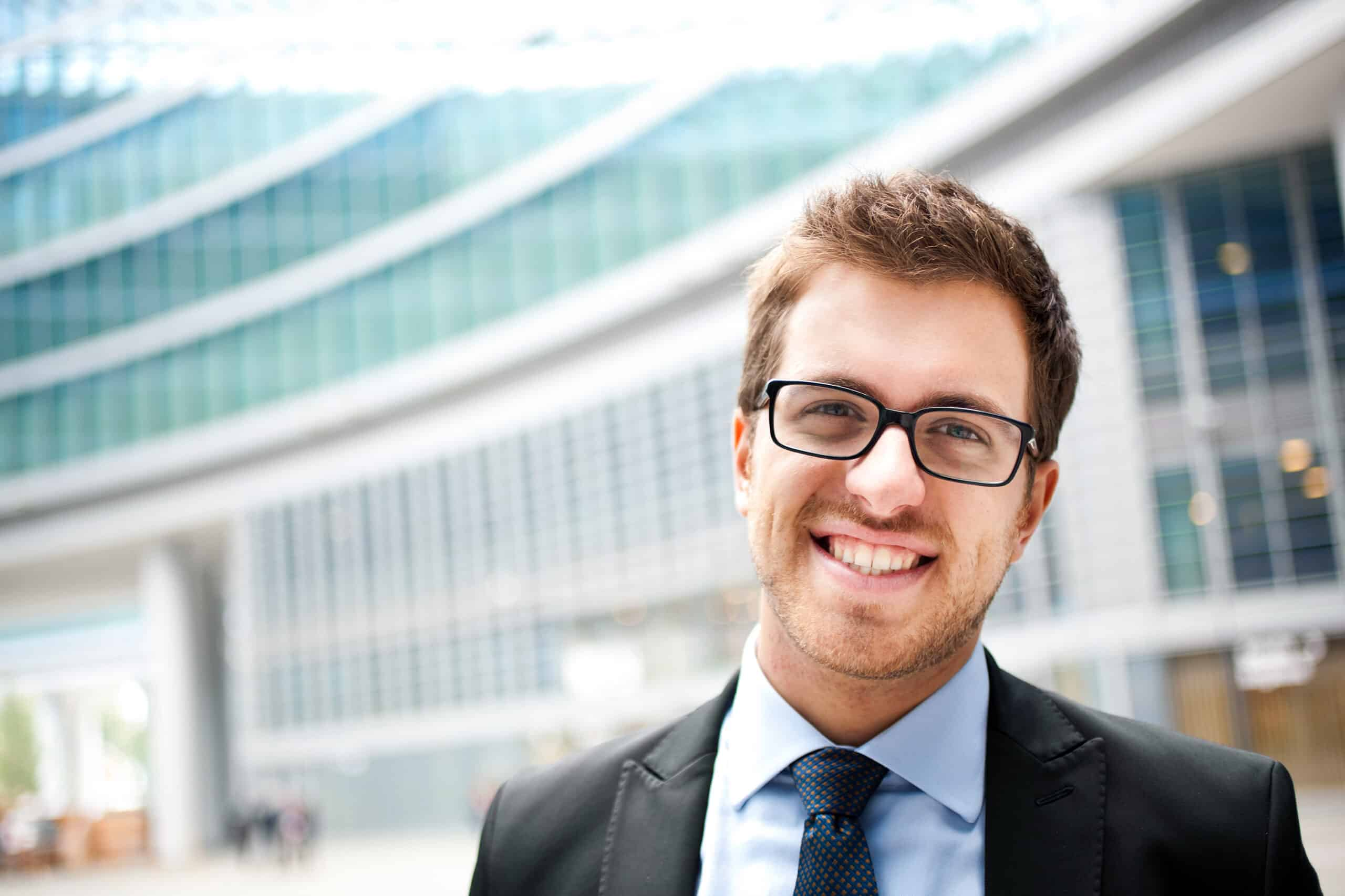 Portrait,Of,An,Handsome,Businessman,In,An,Urban,Setting